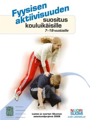 Fyysisen aktiivisuuden suositus kouluikäisille-kirjasen kuvituskuva.