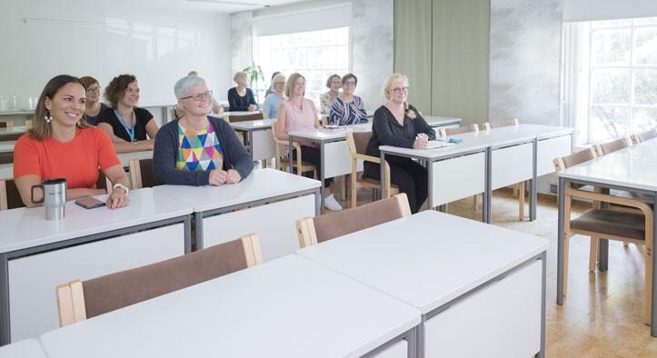 Koulutustila Kesä luokkamuodossa