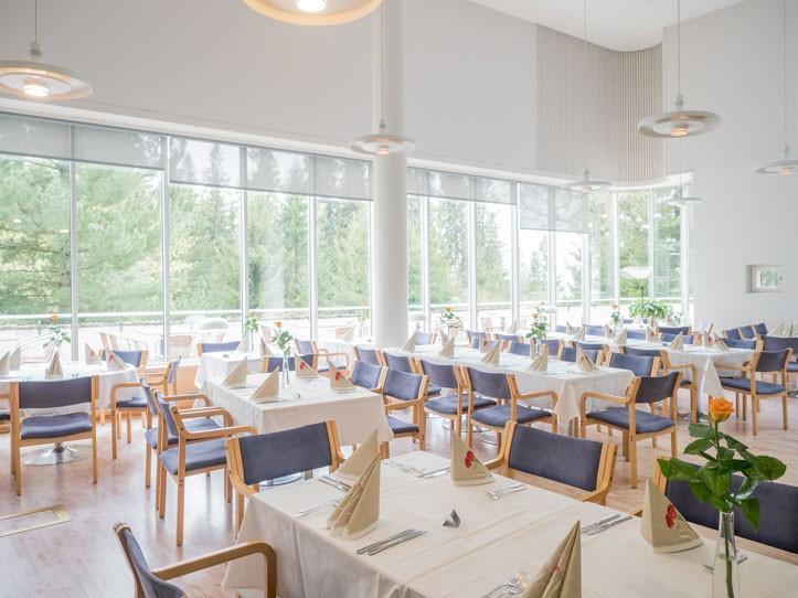 ravintolasalin takaosa Sylvin Sali UKK-instituutti
