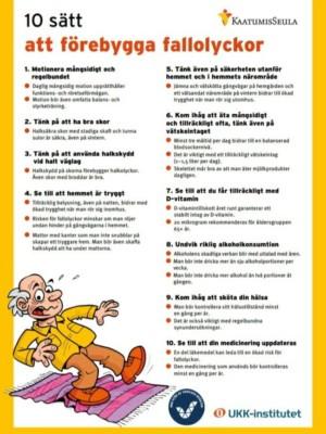 10 sätt att förebygga fallolyckor, kuvituskuva