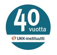 UKK-instituutti 40 vuotta juhlalogo