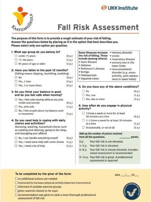 Fall risk assessment 1, kuvituskuva.