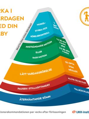 Tuotekuva synnyttäneen liikkumisen suosituksesta ruotsiksi.