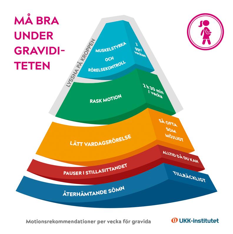 Raskaana olevan liikkumisen suosituksen pääkuva ruotsiksi.